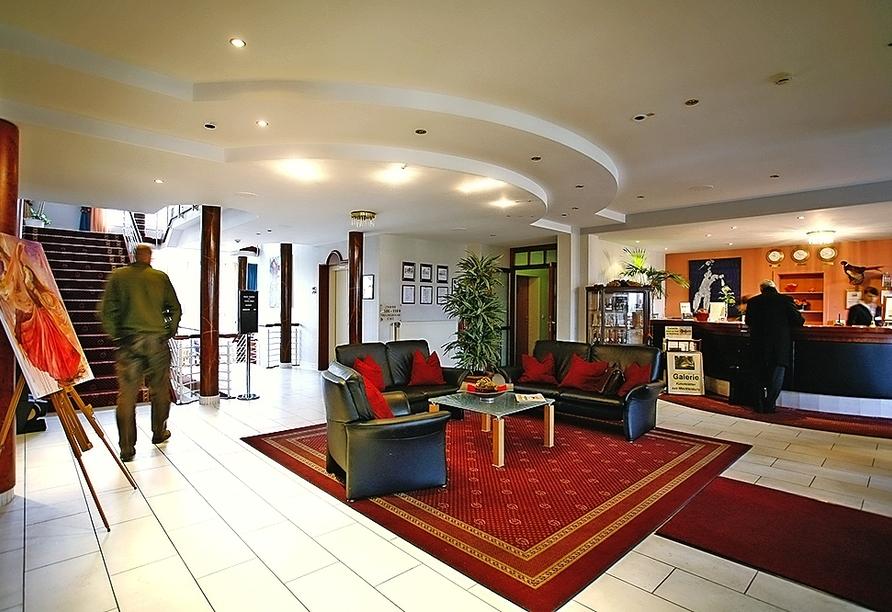 The Royal Inn Park Hotel Fasanerie in Neustrelitz, Mecklenburgische Seenplatte, Lobby
