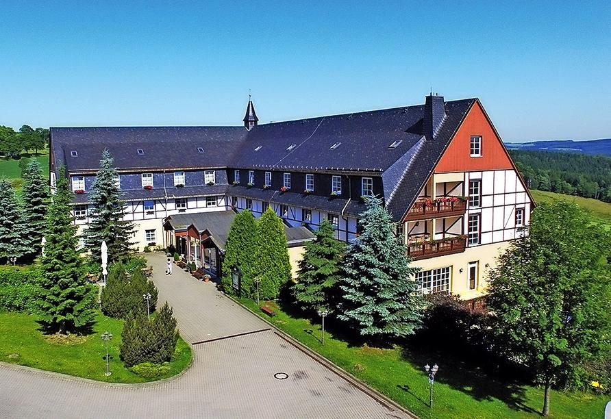 Panorama Berghotel Wettiner Höhe in Seiffen Erzgebirge, Außenansicht