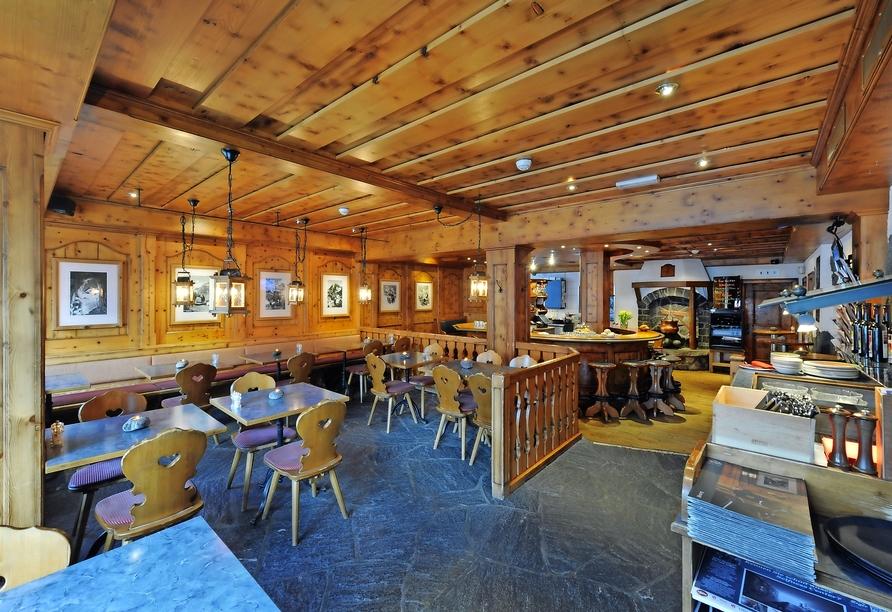 Eiger Selfness Hotel in Grindelwald, Schweiz, Bistro