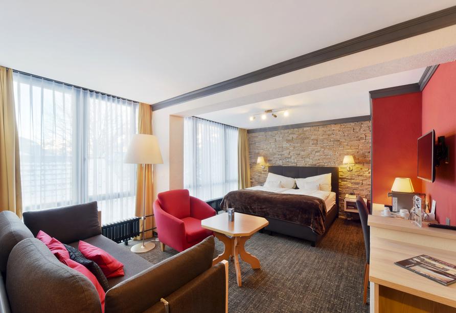 Eiger Selfness Hotel in Grindelwald, Schweiz, Beispiel Doppelzimmer Lifestyle Chic