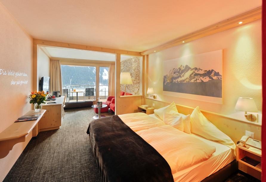 Eiger Selfness Hotel in Grindelwald, Schweiz, Beispiel Doppelzimmer Lifestyle Comfort