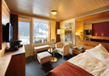 Eiger Selfness Hotel in Grindelwald, Schweiz, Beispiel Doppelzimmer Lifestyle View