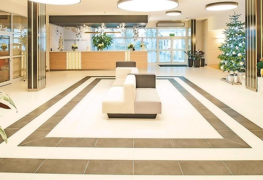 Akces Medical FIT&SPA, Kolberger Deep, Polnische Ostsee, Lobby