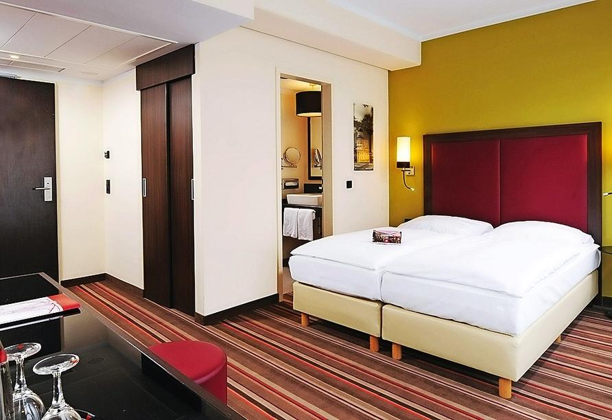 Beispiel eines Doppelzimmers Komfort im Leonardo Hotel Berlin