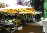 Gartenterasse vom Ahorn Hotel Cottbus