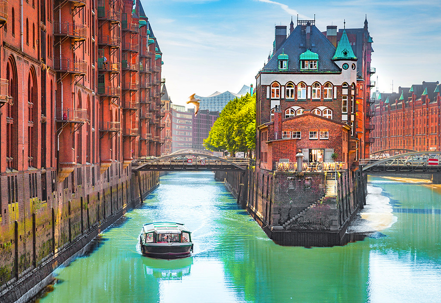 Speicherstadt in Hamburg.