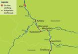 DCS Alemannia, Reiseroute