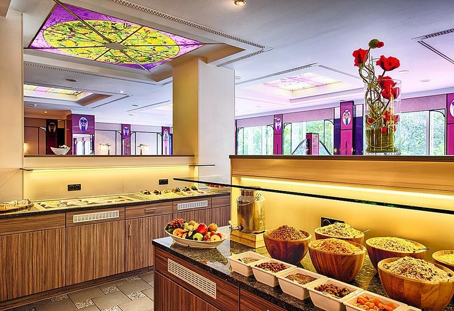 Am Frühstücksbuffet im Leonardo Hotel Munich Arabellapark starten Sie gut in den Tag!