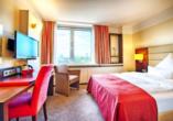 Beispiel eines Einzelzimmers im Leonardo Hotel Munich Arabellapark