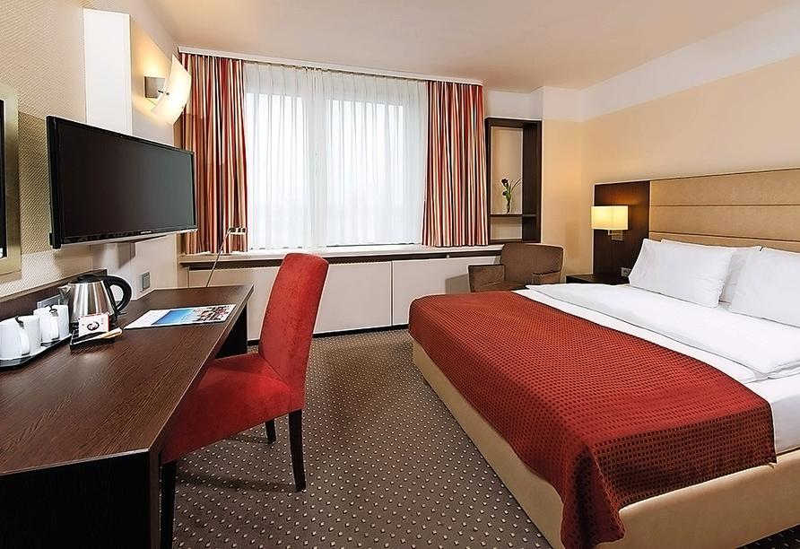 Beispiel eines Doppelzimmers im Leonardo Hotel Munich Arabellapark
