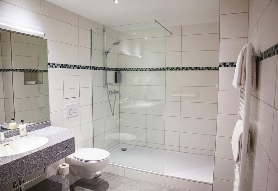 Beispiel eines Badezimmers im Hotel Kastanienhof