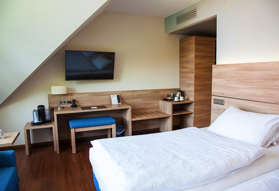 Beispiel eines Doppelzimmers Business im Hotel Kastanienhof