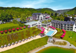 Moselstern Parkhotel Krähennest in Löf an der Mosel, Luftansicht