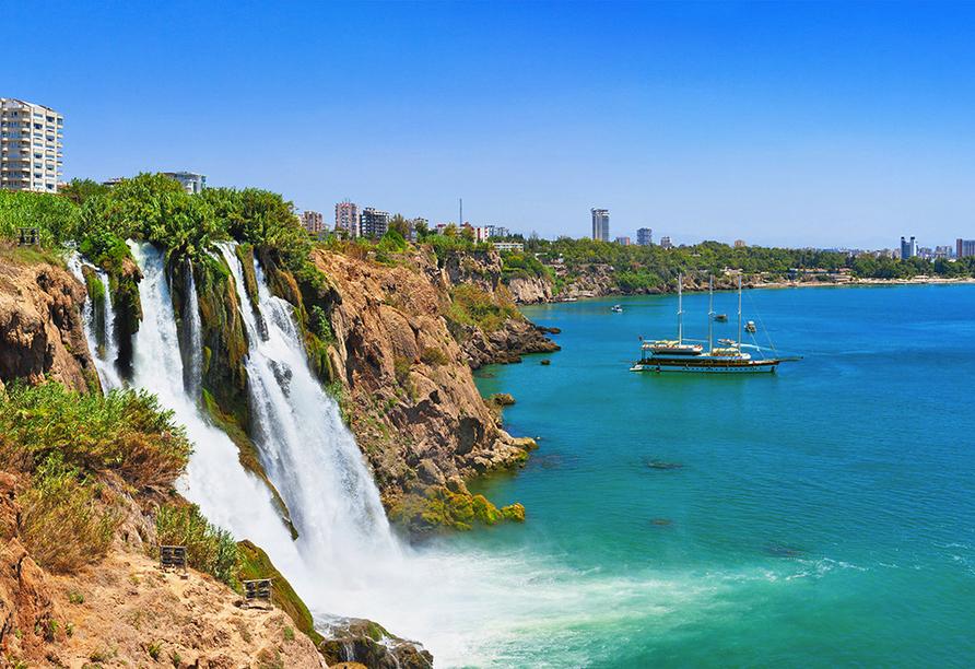 Düden Wasserfal bei Antalya.