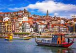 Sie werden von Porto mit seinen wunderschönen Häuserfassaden begeistert sein!