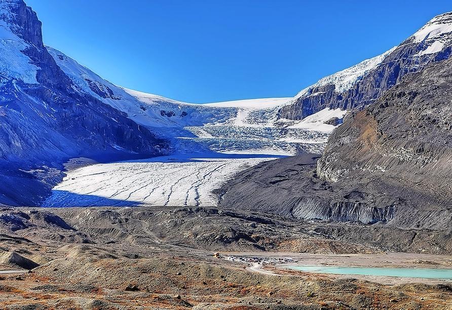 Kanadas Highlights von Ost nach West, Jasper-Nationalpark Athabasca-Gletscher