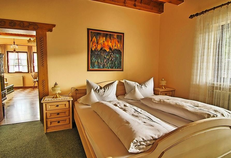 Beispiel eines Doppelzimmers im Hotel Hirsch in Bad Peterstal-Griesbach