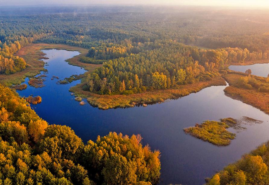 Wildecker Teiche nahe Eschede im Herbst.