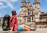 Bei einem Tagesausflug lernen Sie die Pilgerstadt Santiago de Compostela kennen.
