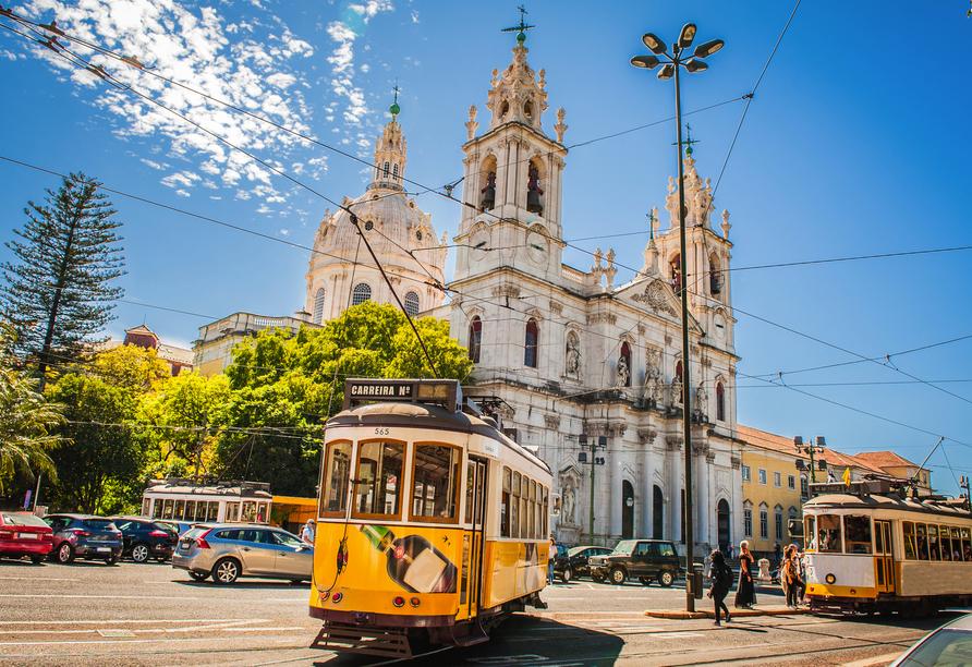 Die gelben Straßenbahnen sind aus Lissabon nicht mehr wegzudenken.