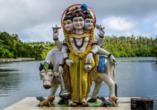 Statue am Ganga Talao