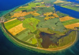 Luftaufnahme der Halbinsel Poel.