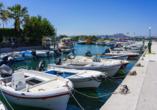 Der schöne Hafen von Faliraki