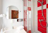 Hotel Die Kleine Sonne Rostock, Badezimmerbeispiel