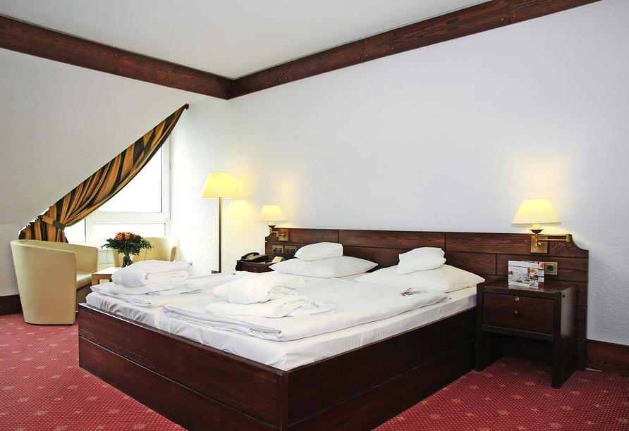 Relexa Hotel Bad Salzdetfurth bei Hildesheim in Niedersachsen, Zimmerbeispiel