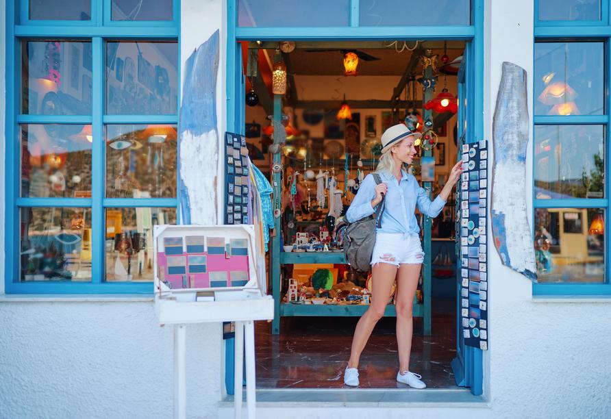 Entdecken Sie in aller Ruhe schöne Läden und Souvenirs.