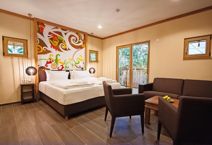 Tropical Islands Resort, Beispiel Schlafbereich Familienzimmer Premium