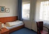 Wilhelms Haven Hotel in Wilhelmshaven, Zimmerbeispiel EZ Economy