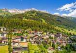 Hotel Kertess in St. Anton am Arlberg, Panoramasicht