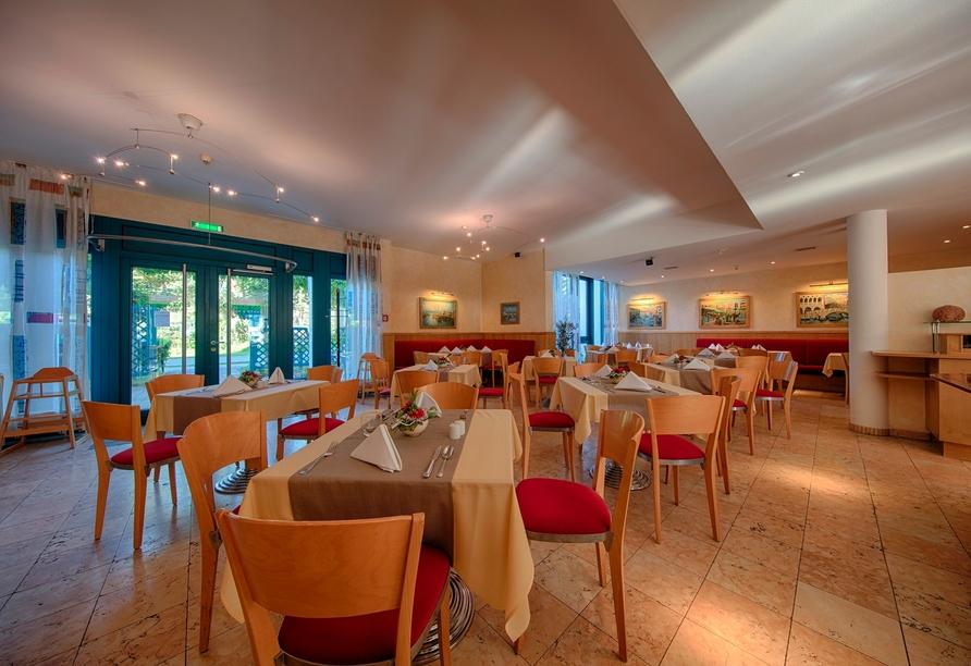 Das Restaurant San Marco begrüßt Sie in der AQUAMARIS Strandresidenz Rügen.