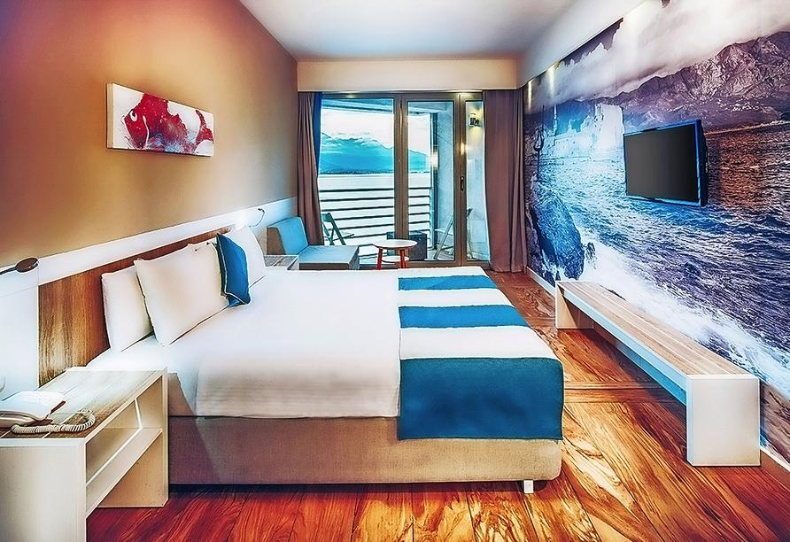 Beispiel eines Doppelzimmers mit Meerblick vom Hotel Iberostar Bijela Delfin