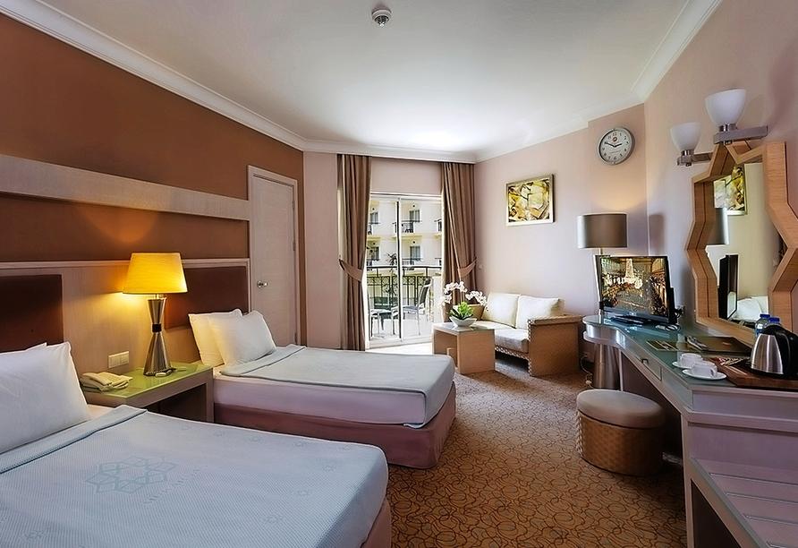 Zimmerbeispiel eines Doppelzimmers im Hotel Mukarnas Spa Resort