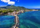 Traumhafter Blick auf Ischia vom Castello Aragonese