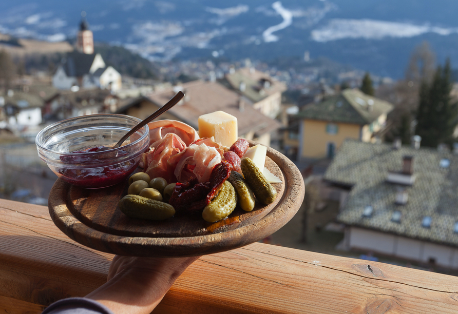 Hotel Villa Melì, Snacks aus Südtirol