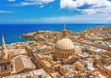 Besuchen Sie Maltas faszinierende Hauptstadt Valletta.