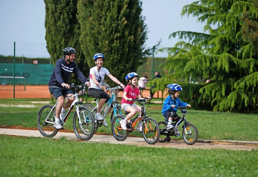 Aminess Sirena Campsite Holiday Homes, Novigrad, Istrien, Kroatien, Fahrrad fahren