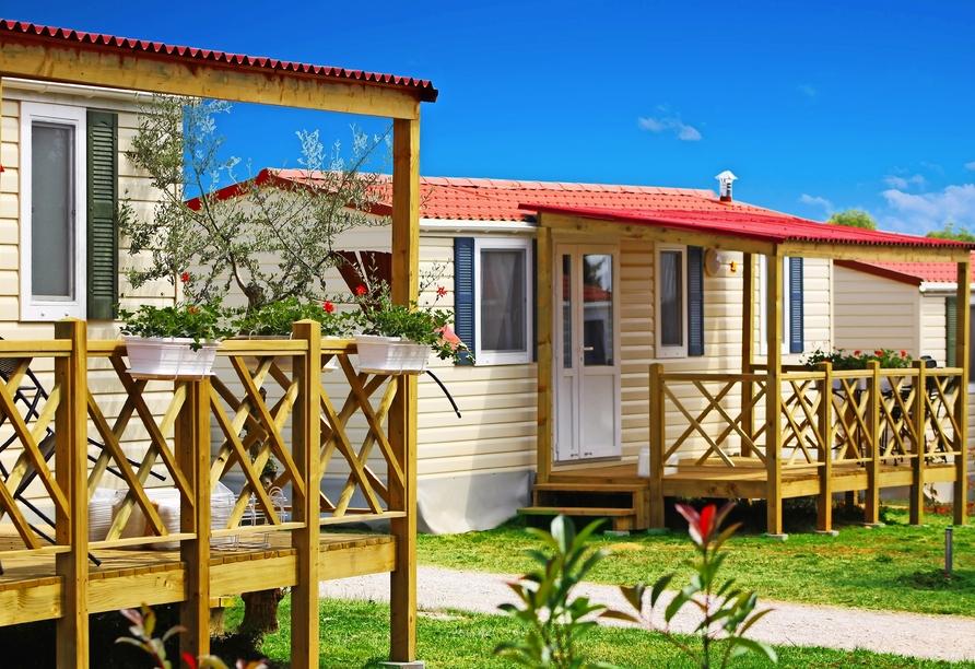 Aminess Sirena Campsite Holiday Homes, Novigrad, Istrien, Kroatien, Außenansicht Sirena Classic