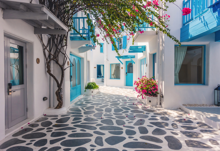 Die wunderschöne griechische Architektur ist etwas ganz besonderes.