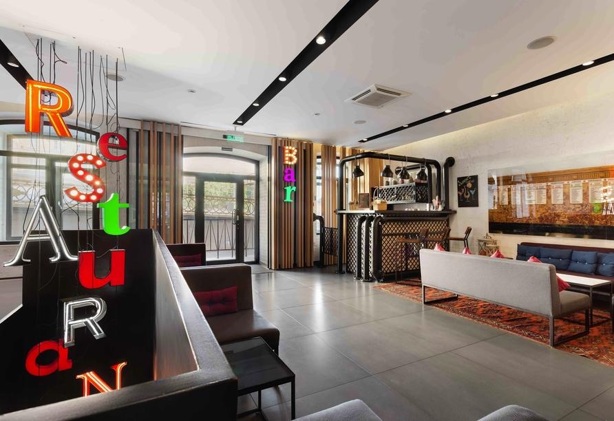 Bar im Beispielhotel Azimut Tulskaya