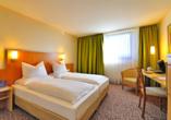 Beispiel eines Doppelzimmers im Amber Hotel Leonberg