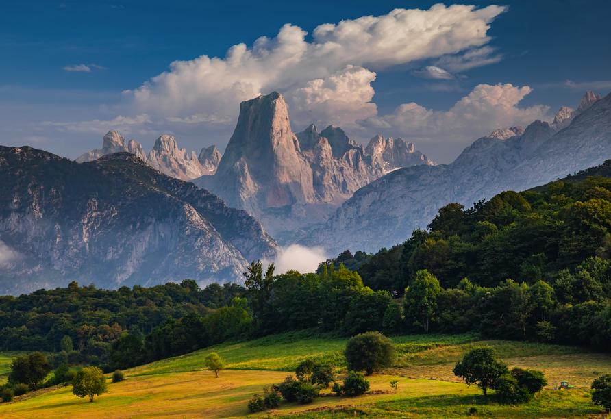 Der Picos de Europa Nationalpark verfügt über die höchsten Gipfel des Kantabrischen Gebirges.