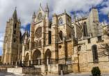 Die schöne Stadt León am Jakobsweg ist insbesondere für ihre Kathedrale bekannt.