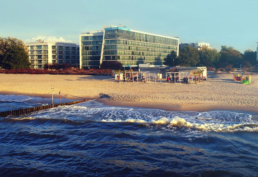 Marine Hotel in Kolberg, Außenansicht