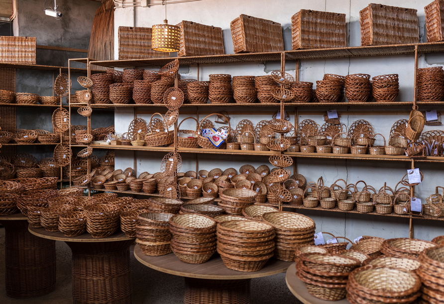 Aus den Korbweiden flechten die Bewohner Camachas Möbel und andere Gegenstände.