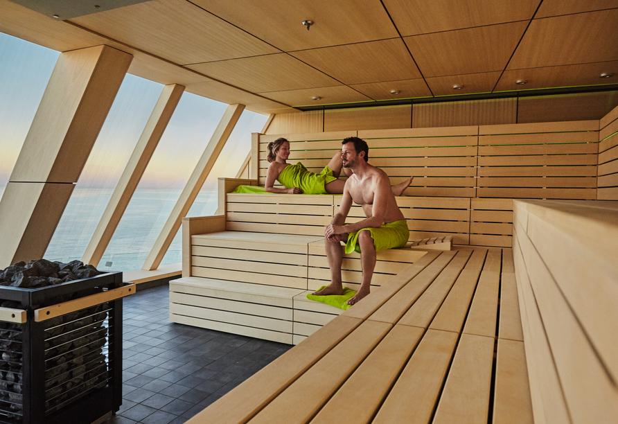 Mein Schiff 1 oder 2, Sauna