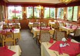 Lassen Sie sich im Restaurant des Hotels Ferien vom Ich kulinarisch verwöhnen.